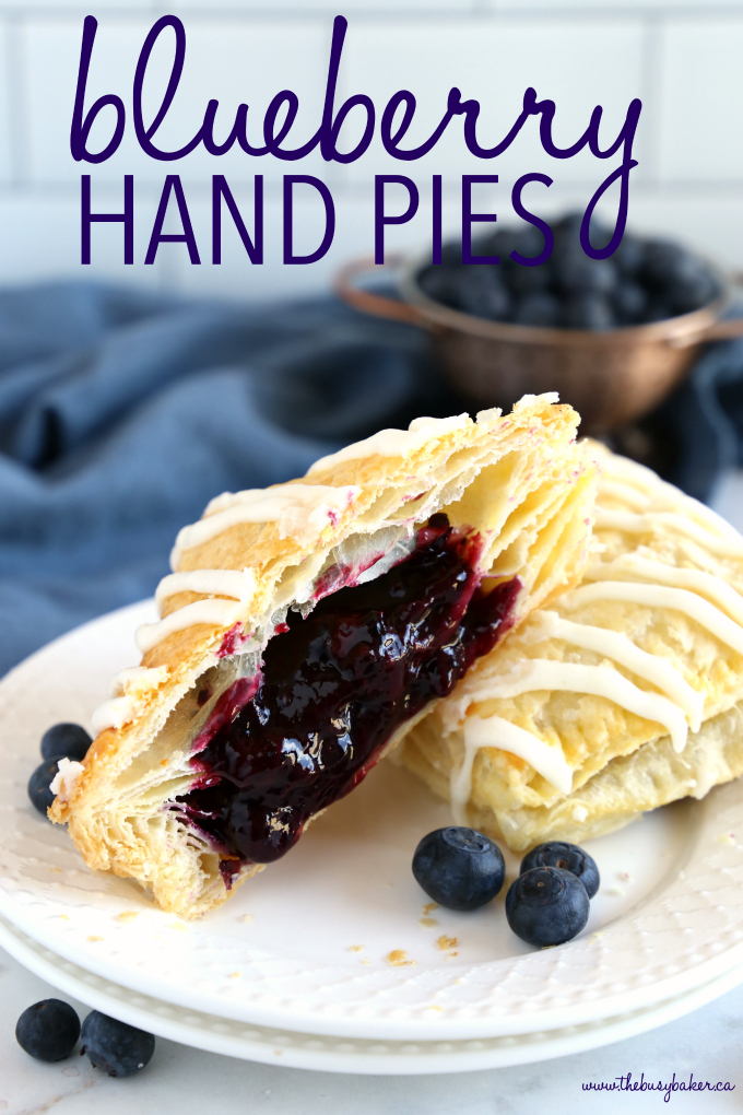 Best Ever Blueberry Hand Pies photo with text