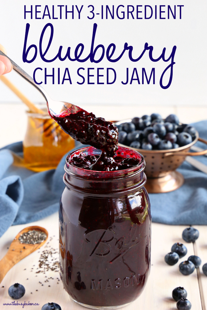 Healthy 3-Ingredient Chia Seed Blueberry Jam - The Busy Baker