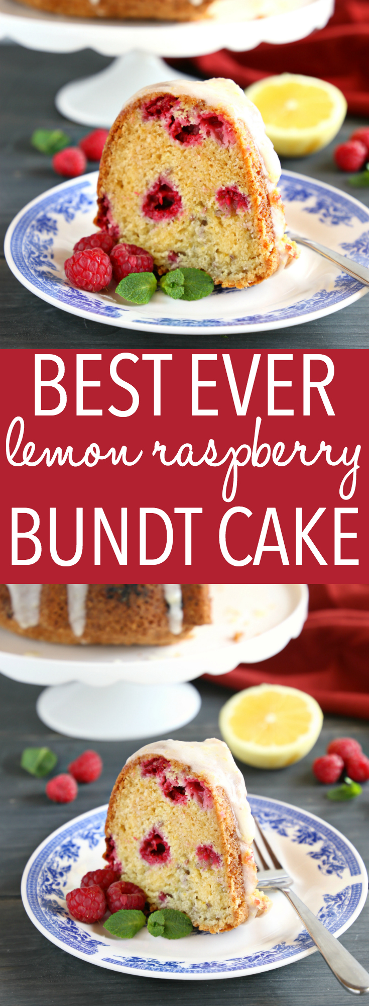 This Lemon Raspberry Glazed Bundt Cake is the perfect summer dessert for raspberry season! It's easy to make, and perfectly moist with a sweet lemon glaze! Recipe from thebusybaker.ca! #bundtcake #raspberry #lemon #cake #recipe #easyrecipe #homemade #summer #dessert #berries #berry #sweet #treat #easytomake #vintage #glazed #glaze