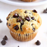 Best Ever Greek Yogurt Chocolate Chip Muffins