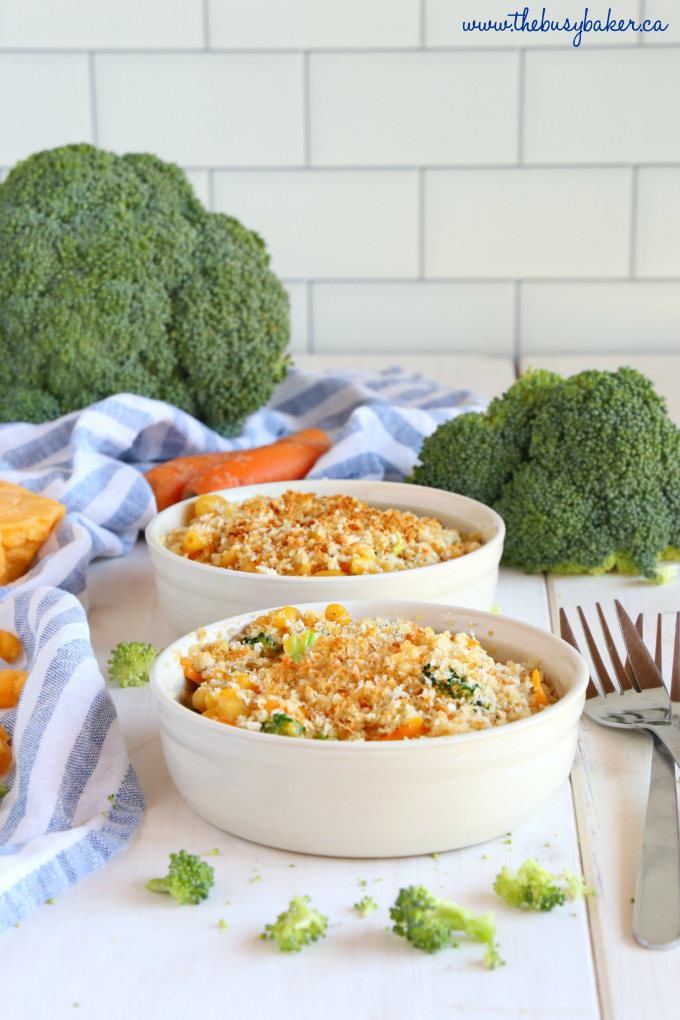 Easy 15-Minute Vegetarian Macaroni and Cheese individual servings
