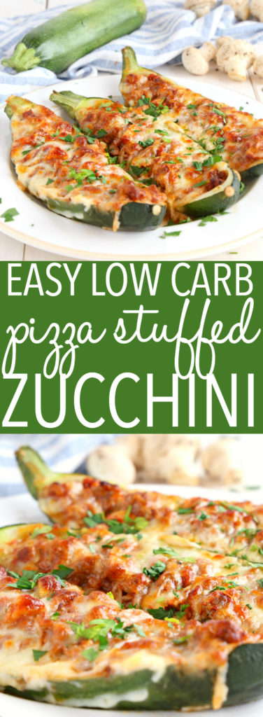 Easy Low Carb Pizza Stuffed Zucchini Pinterest