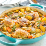 Easy One Pot Roasted Chicken Dinner