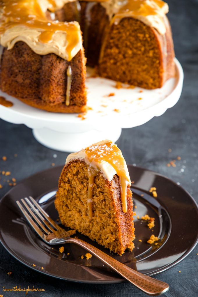 Best Ever Salted Caramel Pudding Cake