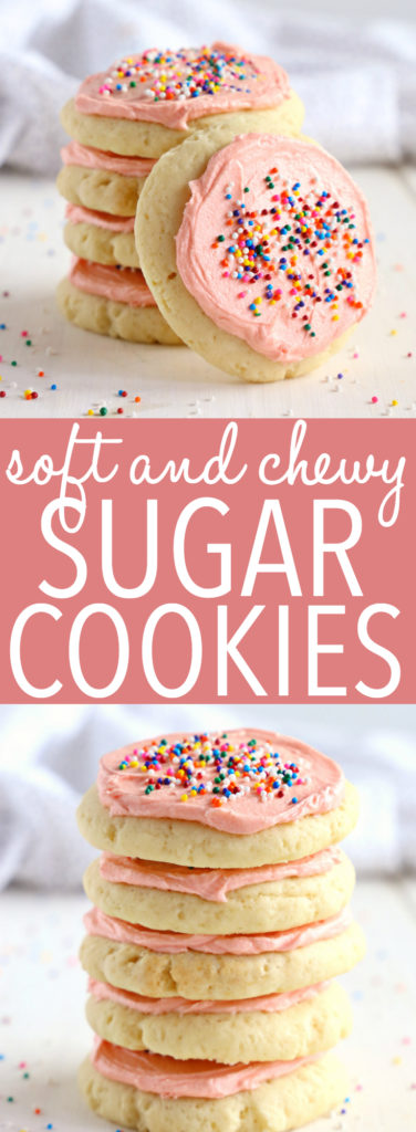 Soft and Chewy Frosted Sugar Cookies Pinterest