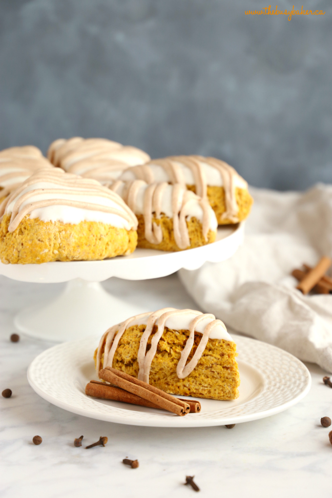 Best Ever Starbucks Pumpkin Scones with spice glaze