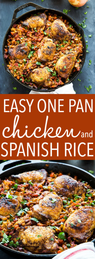 One Pan Spanish-Style Chicken and Rice Pinterest