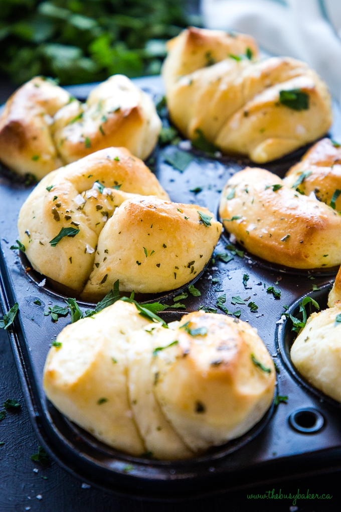 Easy Homemade Garlic Butter Dinner Rolls