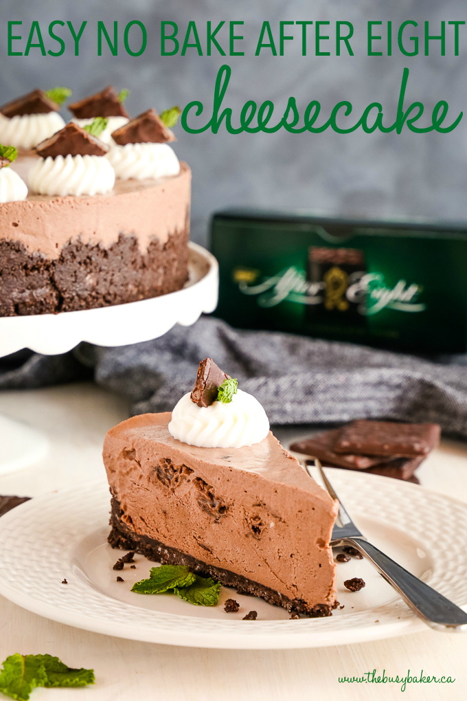 Easy No Bake After Eight Cheesecake