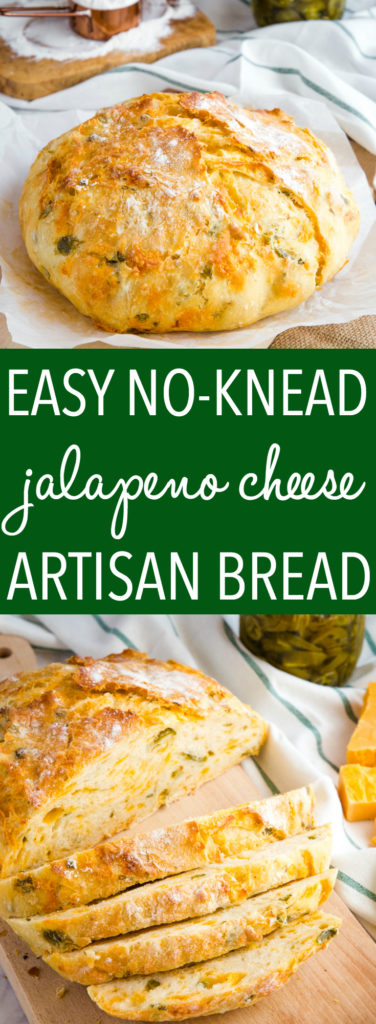 Easy No Knead Jalapeno Cheese Artisan Bread Pinterest