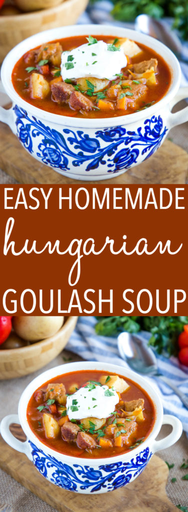 Homemade Hungarian Goulash Soup Pinterest