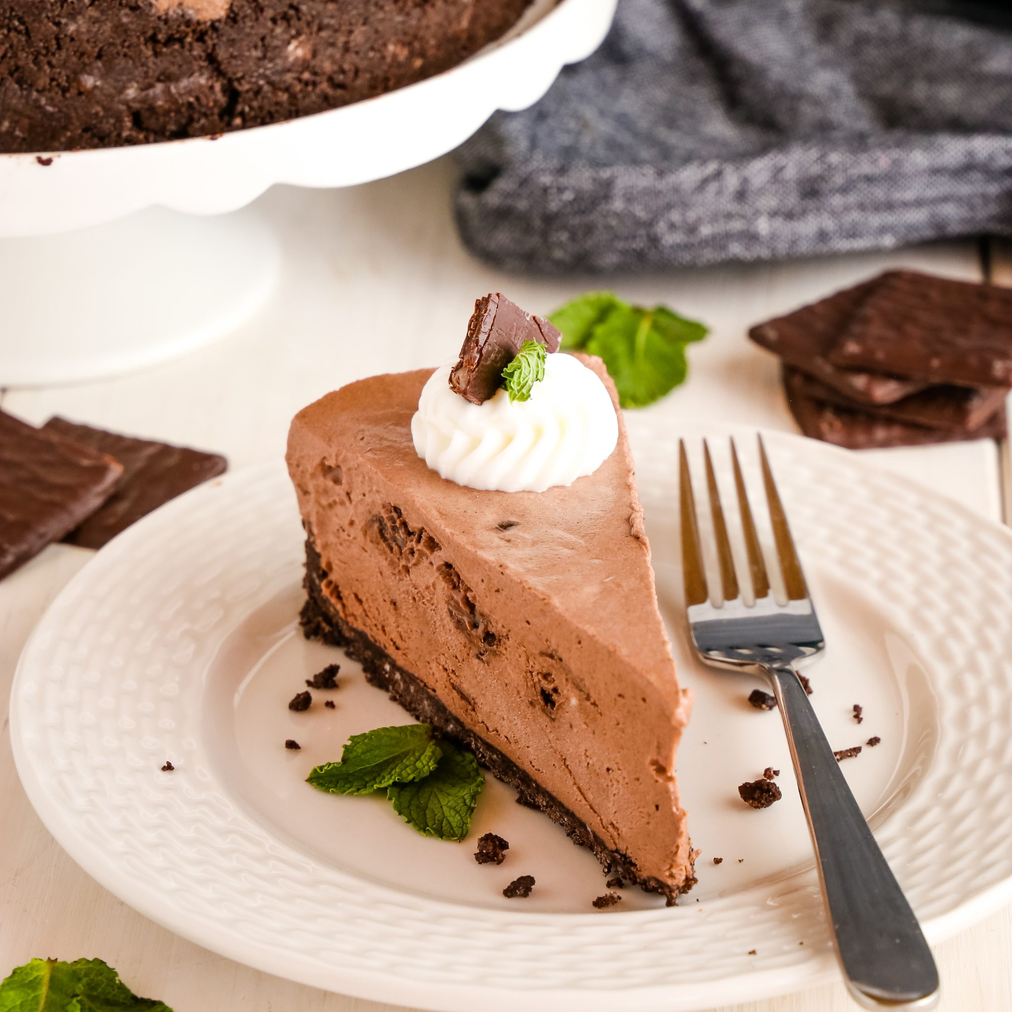 Easy No Bake After Eight Cheesecake Mint Chocolate The Busy Baker
