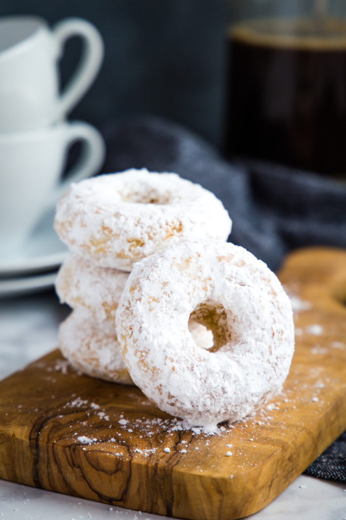 Old Fashioned Powdered Sugar Donuts Low Fat The Busy Baker