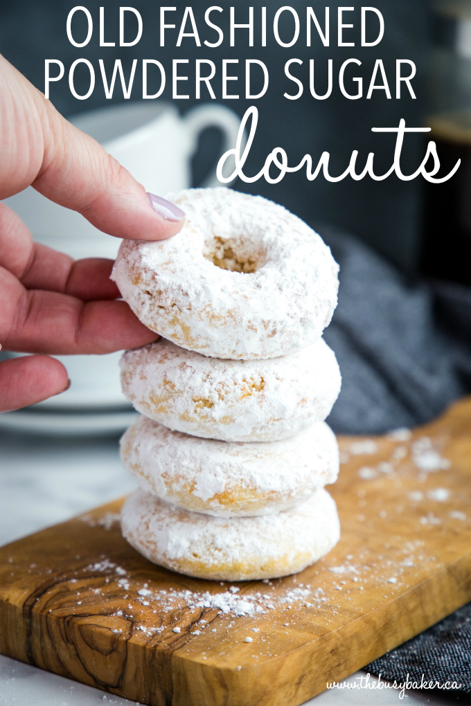 Old Fashioned Powdered Sugar Donuts