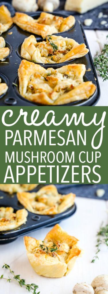 Creamy Parmesan Mushroom Cup Appetizers Pinterest