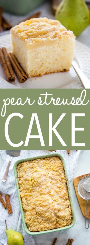 Pear Streusel Cake Pinterest