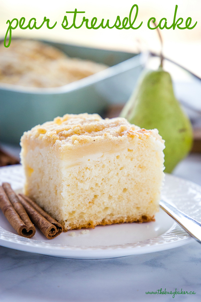 Pear Streusel Cake with cinnamon and pears