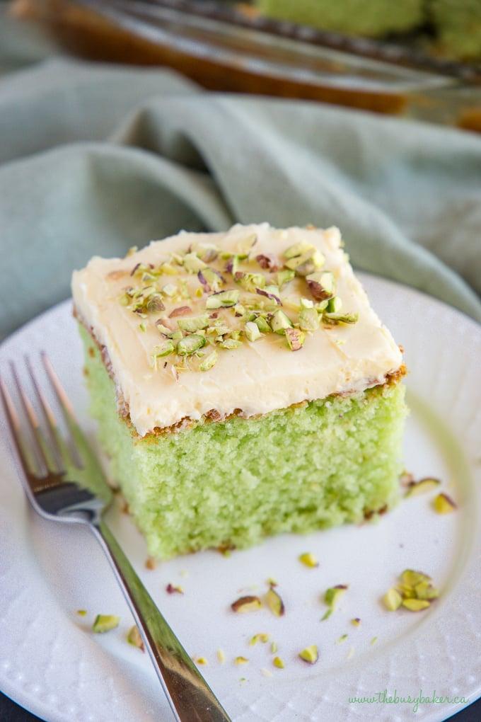 Best Ever Pistachio Pudding Cake