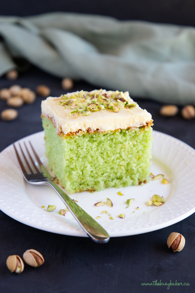 Best Ever Pistachio Pudding Cake
