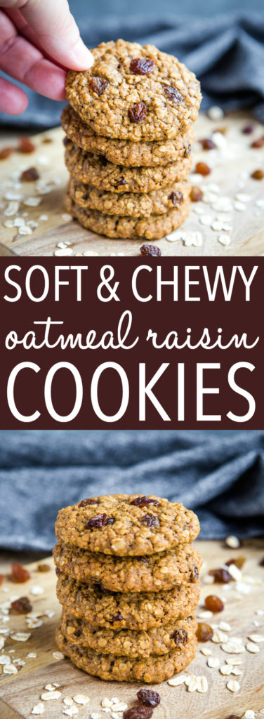 Soft and Chewy Oatmeal Raisin Cookies Pinterest