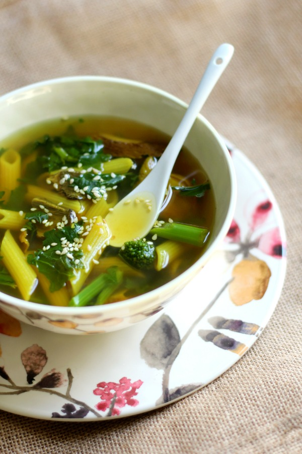 a bowl of tummy healing soup