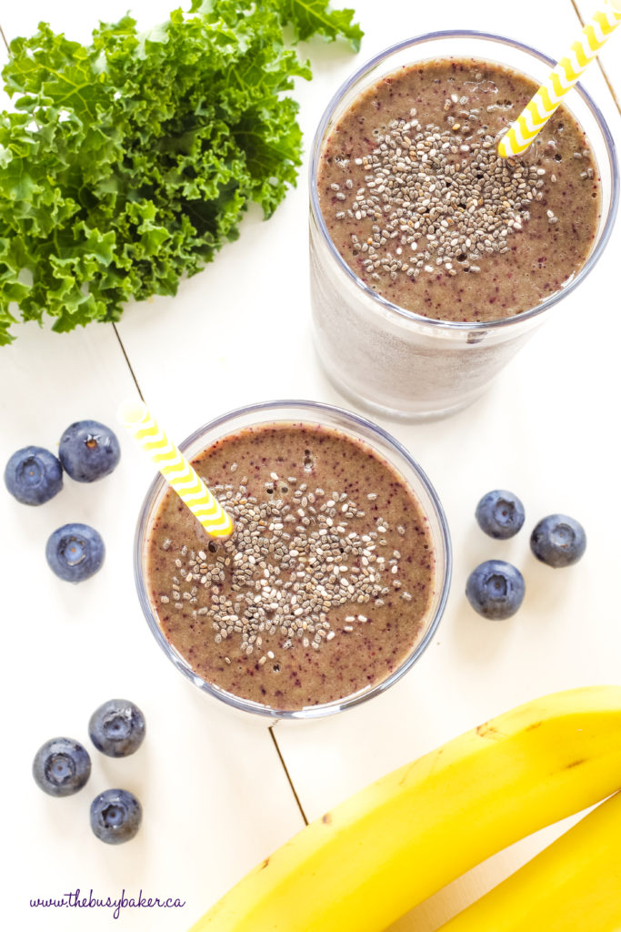 Blueberry Kale Power Smoothie