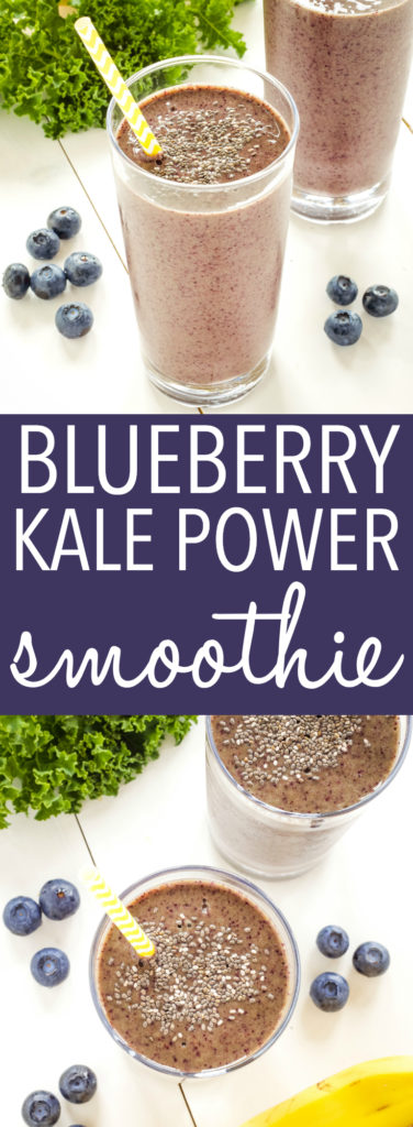 Blueberry Kale Power Smoothie Pinterest