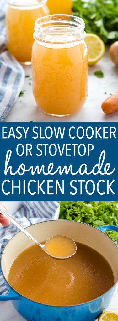 Easy Homemade Chicken Stock Recipe Pinterest