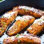 Easy One Pan Maple Glazed Salmon