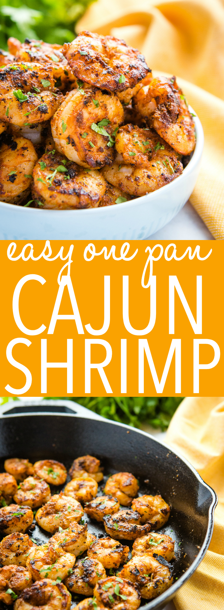 This Easy One Pan Cajun Shrimp is the perfect way to enjoy your favourite seafood! It's so spicy and flavourful, and it's easy to make in just one pan! Recipe from thebusybaker.ca! #cajun #shrimp #spicy #seafood #mild #protein #healthy #lowfat #spices #spicemix #seasoningblend via @busybakerblog