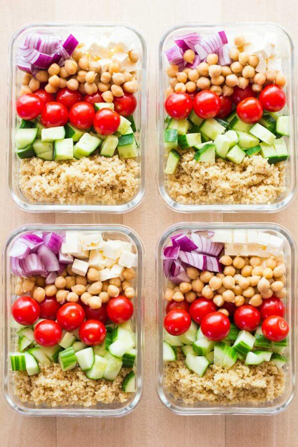 chickpea meal prep bowls