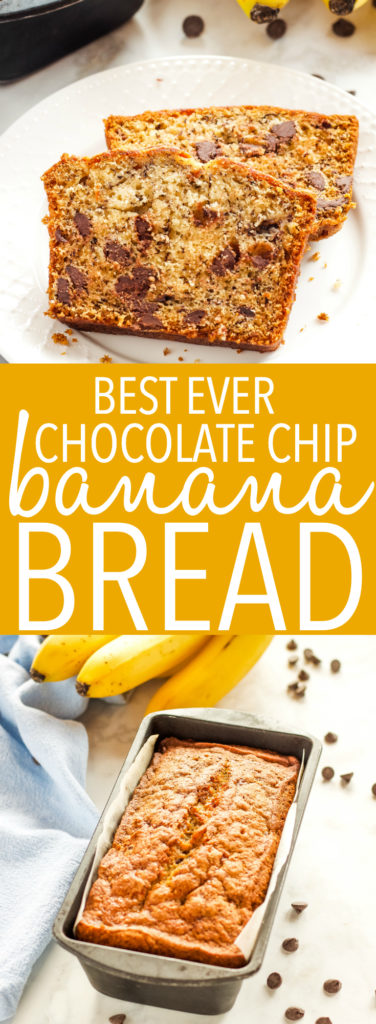 Best Ever Chocolate Chip Banana Bread Pinterest