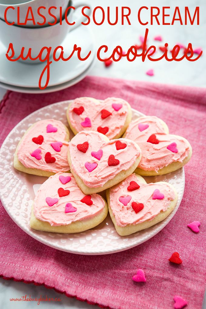 Classic Sour Cream Sugar Cookies Valentines Day