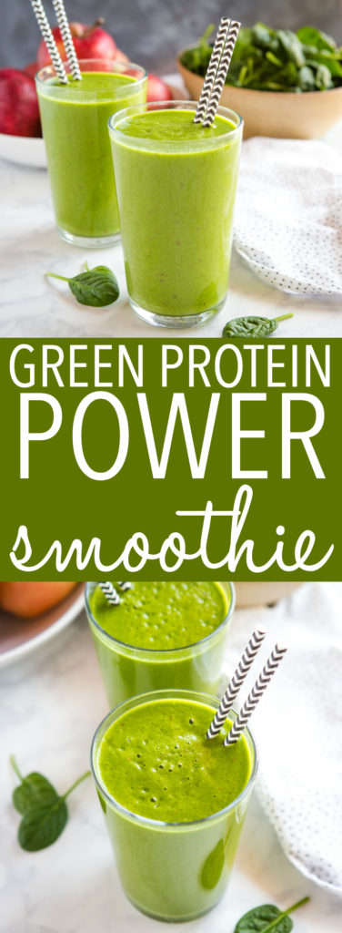 Healthy Green Protein Smoothie pinterest