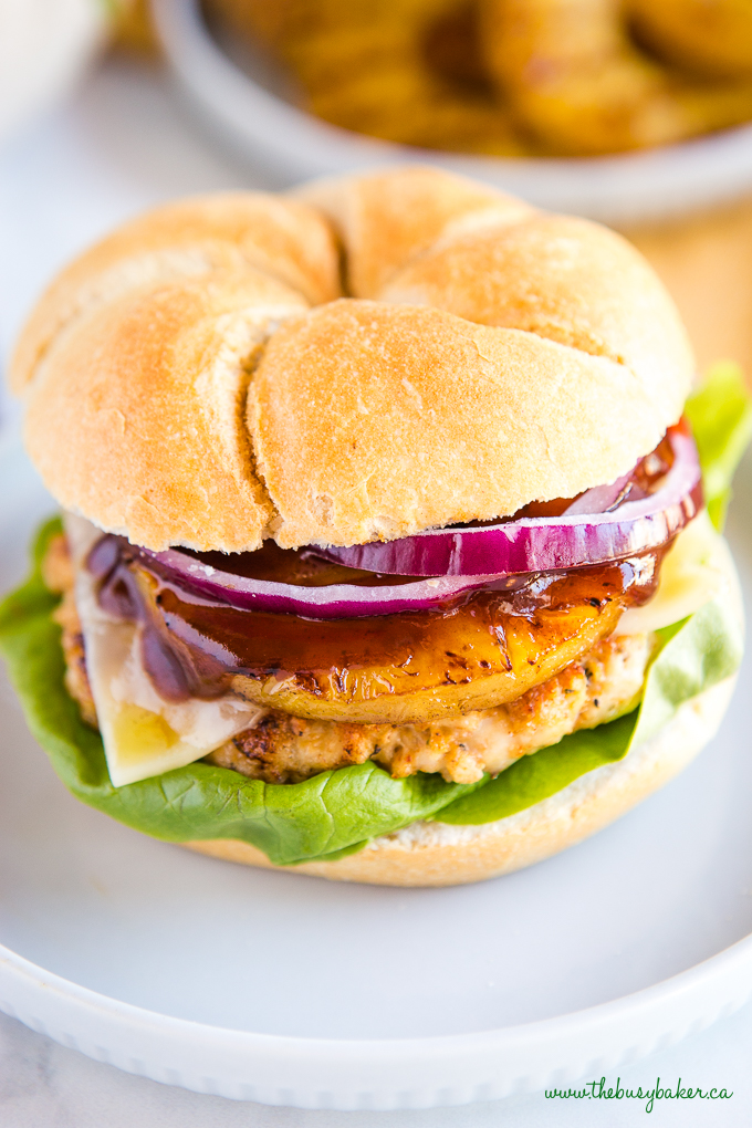 Hawaiian Turkey Burgers {Low in Fat}- The Busy Baker
