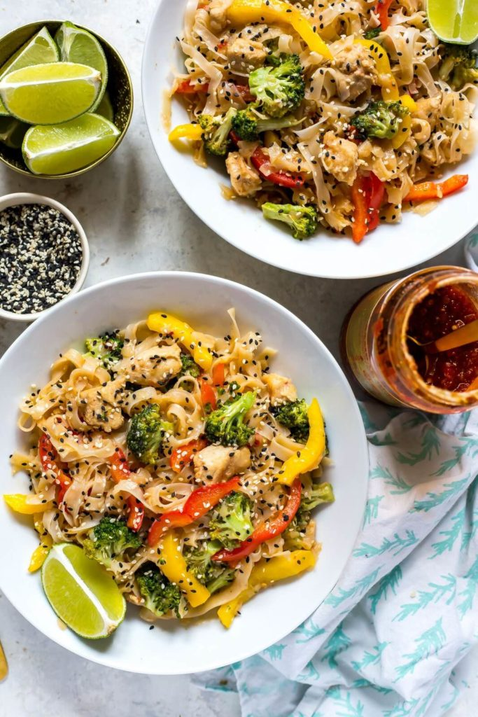 Instant Pot honey garlic noodles lunch bowls