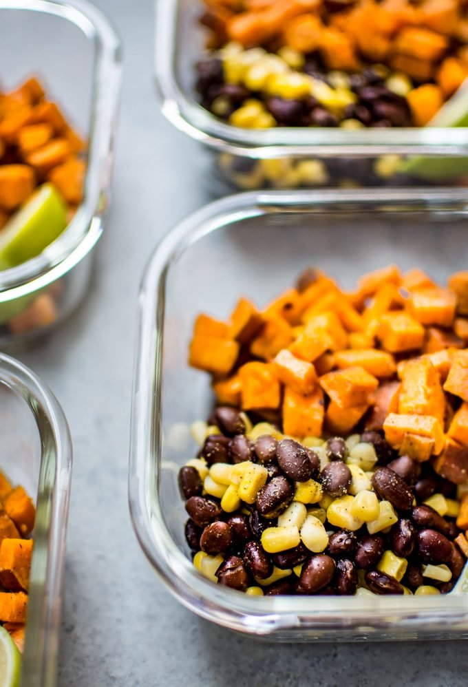 Southwest Sweet Potato Meal Prep Bowls