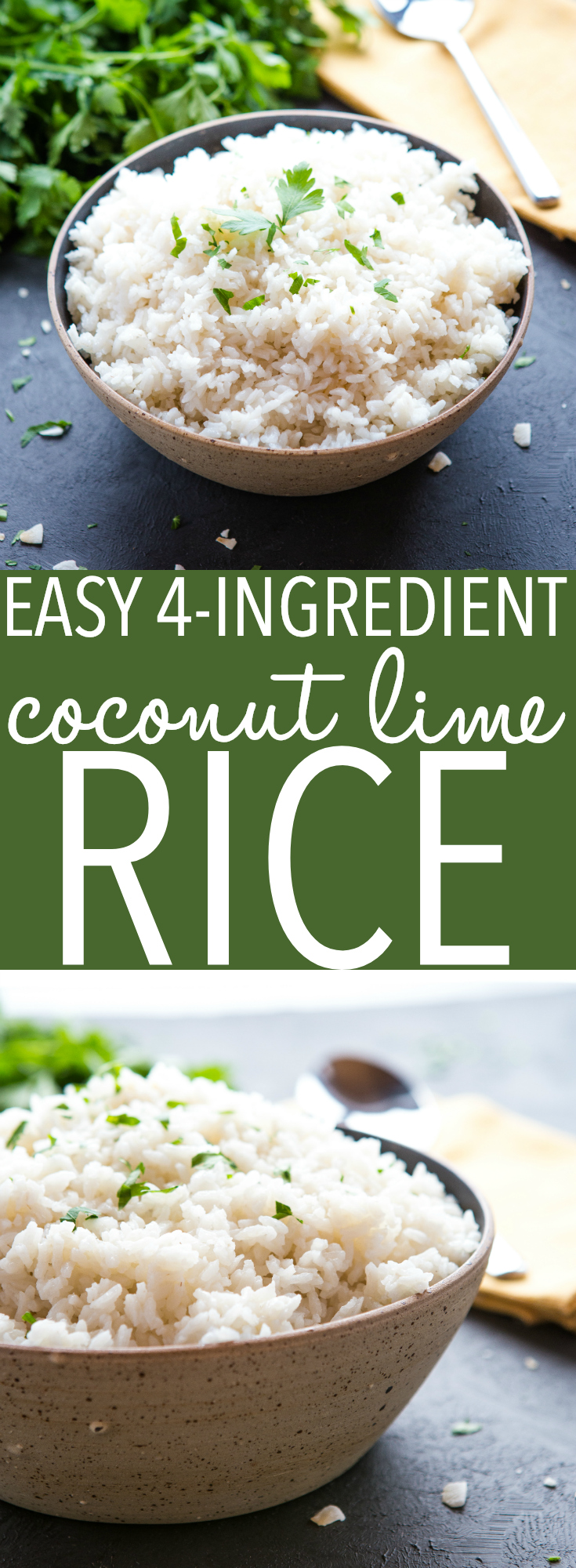 This Easy Coconut Lime Rice is the perfect side dish for all your favourite Asian-style meals! Make it in under 20 minutes with only a few simple ingredients! Recipe from thebusybaker.ca! #rice #coconut #lime #dairyfree #sidedish #vegan #vegetarian #glutenfree #healthy #cleaneating #homemade #asian via @busybakerblog