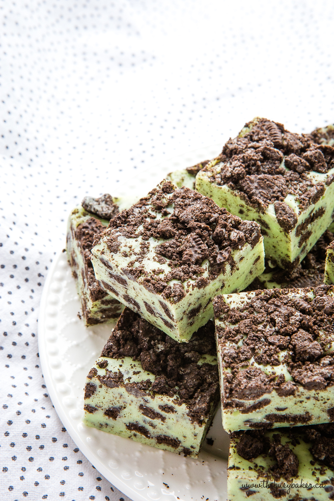 green Mint Oreo Fudge