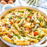 Easy 20-Minute Tomato Asparagus Carbonara Pasta