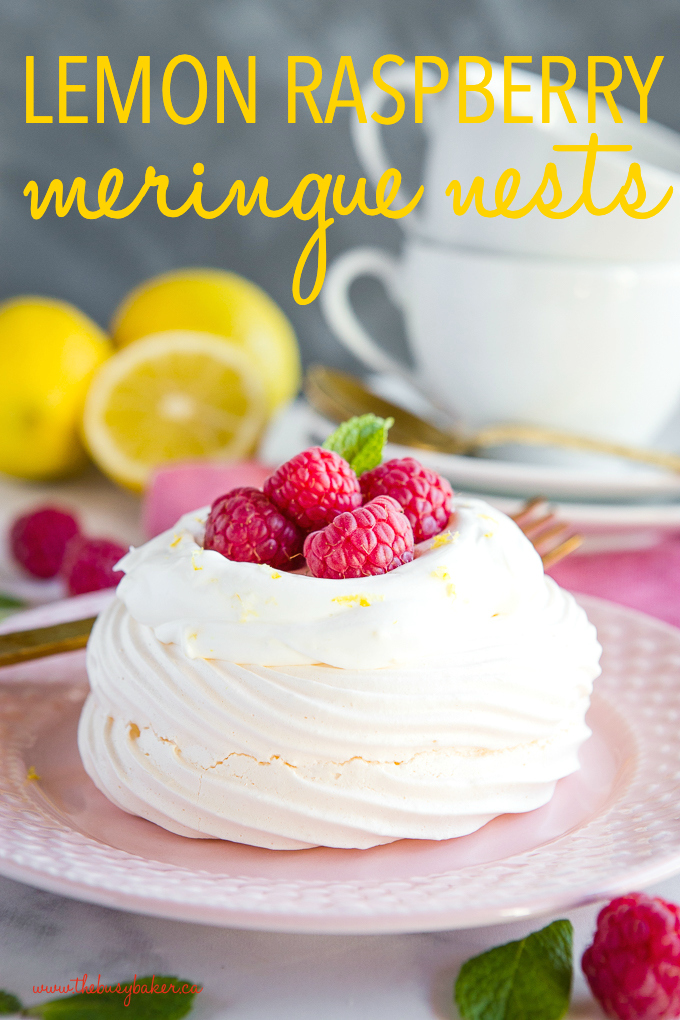 Lemon Raspberry Meringues