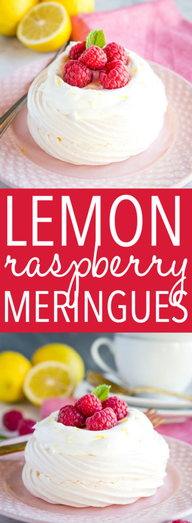 Lemon Raspberry Meringues Pinterest