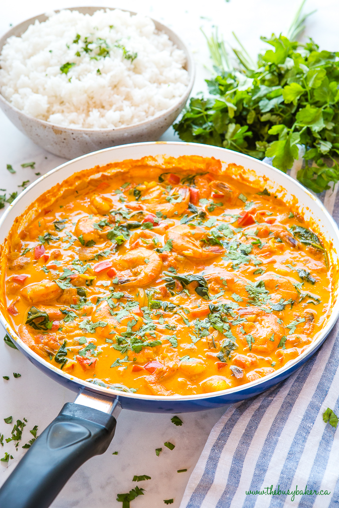 Easy One Pan Coconut Curry Shrimp