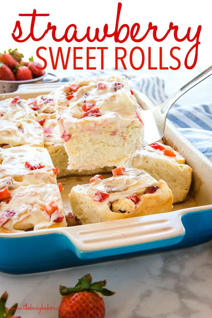 Strawberry Cheesecake Sweet Rolls