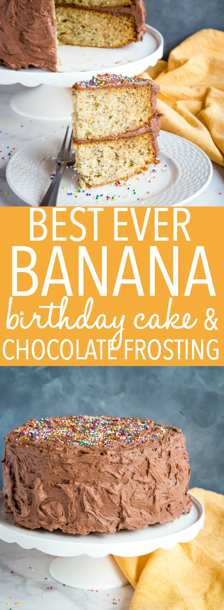 Magnificent Banana Birthday Cake With Chocolate Frosting The Busy Baker Funny Birthday Cards Online Elaedamsfinfo
