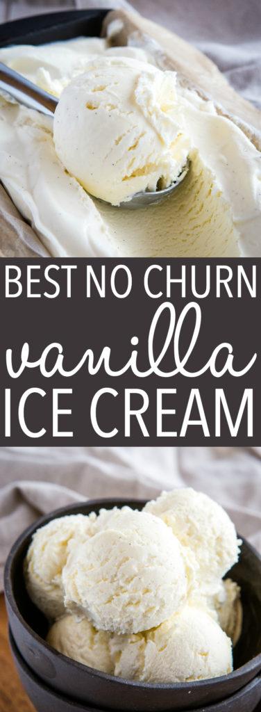 Best Ever No Churn Vanilla Ice Cream Pinterest