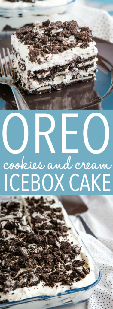 Oreo Cookies and Cream Icebox Cake Pinterest