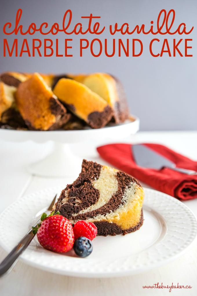 Chocolate Vanilla Marble Pound Cake