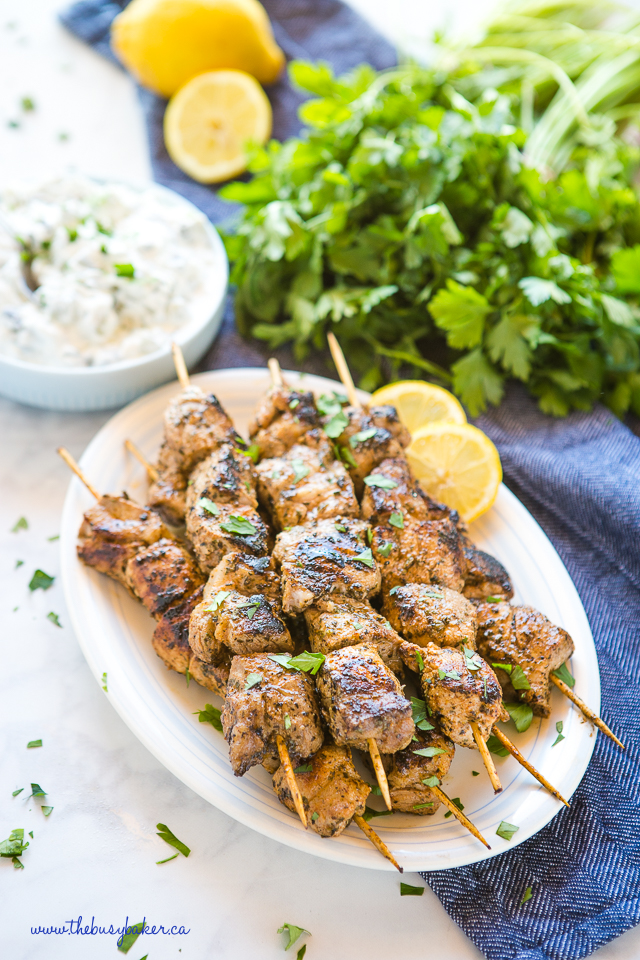 Easy Greek-Style Pork Souvlaki Skewers