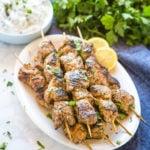 Greek-Style Pork Souvlaki Skewers